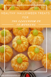 Healthy Halloween Treats For the Classroom or Co-Workers