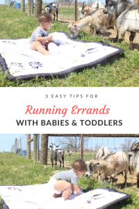 Keeping toddlers clean while running errands presents a challenge for parents. Keep reading for a few tips to help you keep going with toddlers in tow!