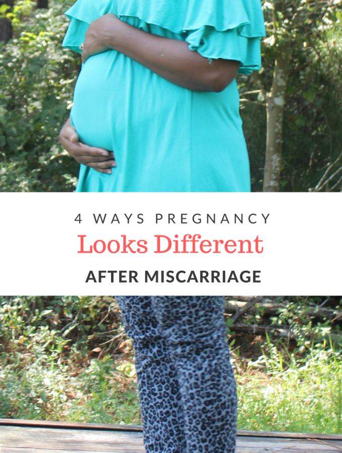Finding out you are pregnant after suffering from a miscarriage doesn't elimate all the fears. It can be challenging to move forward.