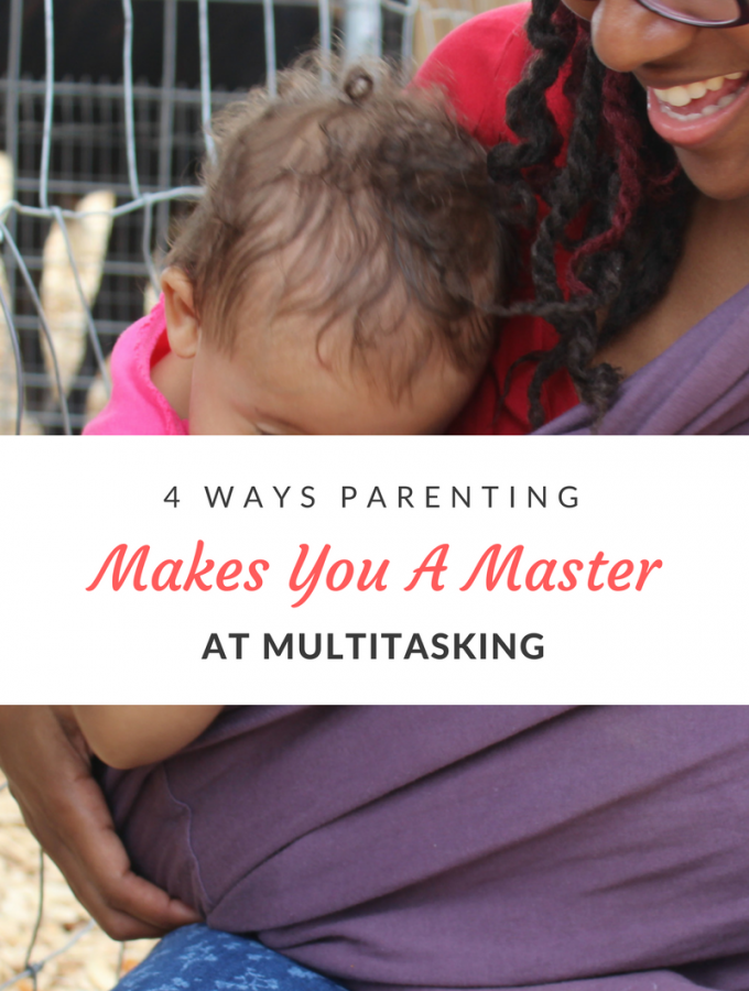 The moment you become a parent, multitasking becomes your middle name. You learn how to run a household, work & everything else in between-at the same time.