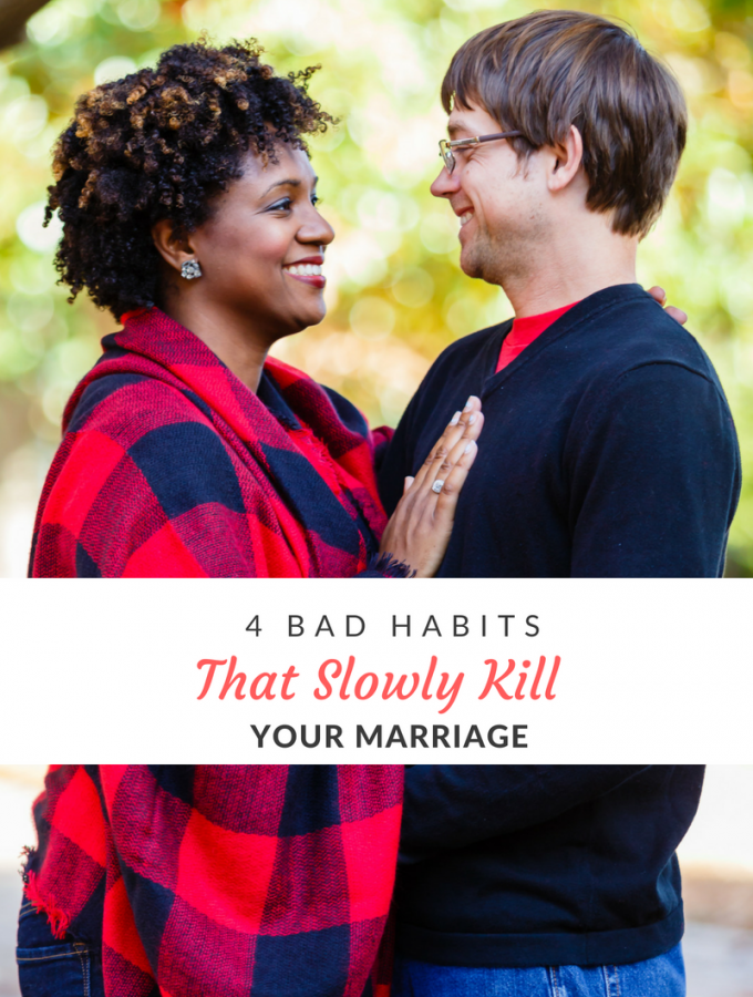 With divorce rates at an all time high, it's easy to get discouraged when things aren't going right in your marriage. Examining & eliminating a few bad habits is the key to getting your marriage back on track.