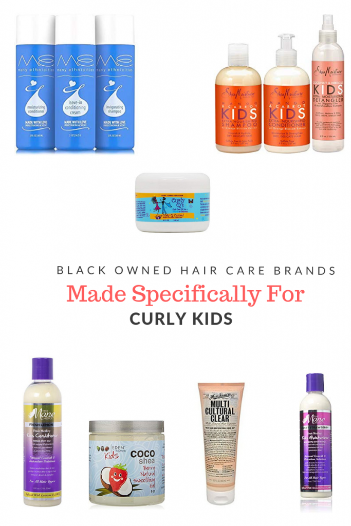 As a curly haired woman with 3 curly haired children, it has been exciting to see that several black owned product lines exist specifically for curly kids.