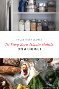 Here are 10 easy, zero waste habits to adopt this #plasticfreejuly. If you're on a budget, this list has you in mind because it won't break the bank!